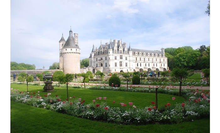 Les jardins du château de Chenonceau.