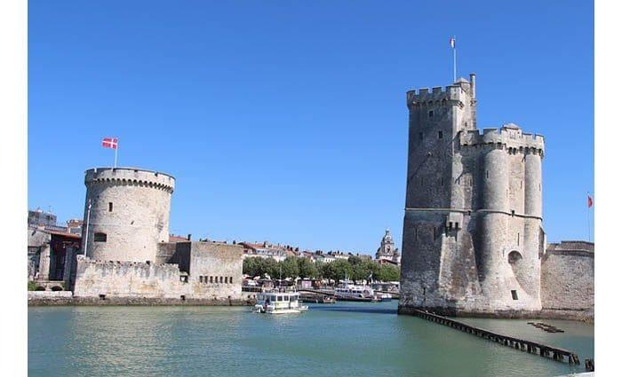 Les tours historiques de la Rochelle.